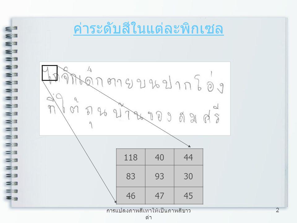 การแปลงภาพสีเทาให้เป็นภาพสีขาว ดำ 2 ค่าระดับสีในแต่ละพิกเซล 1184044 839330 464745