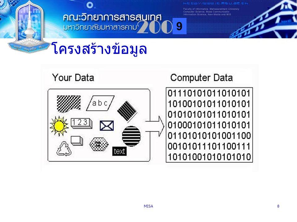 9 MISA8 โครงสร้างข้อมูล