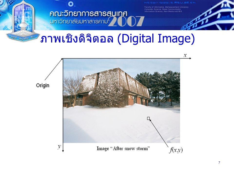 7 ภาพเชิงดิจิตอล (Digital Image)