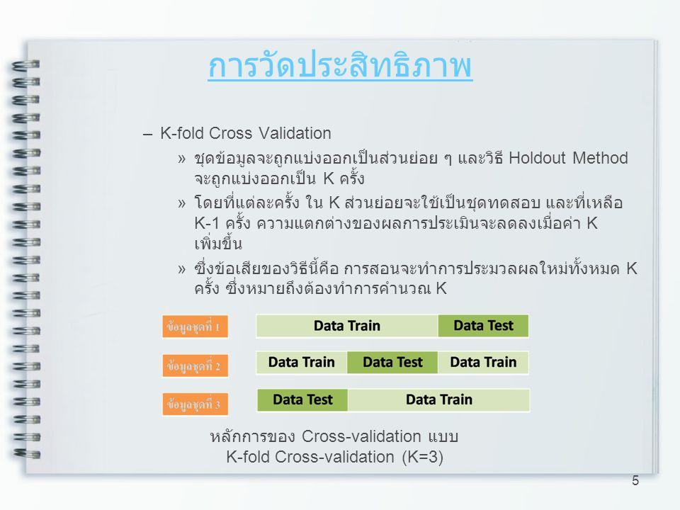 16 ข้อมูลทำนาย ABC ความผิดพลาด ABC ข้อมูลจริง A 72110 B 091 C 208