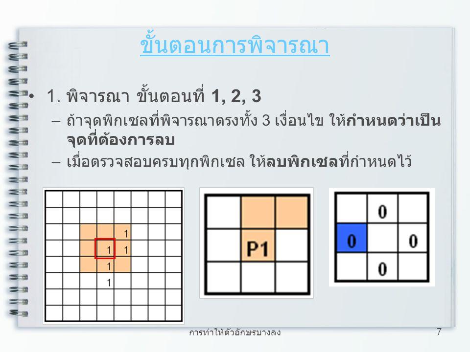 การทำให้ตัวอักษรบางลง 8 ขั้นตอนการพิจารณา 2.