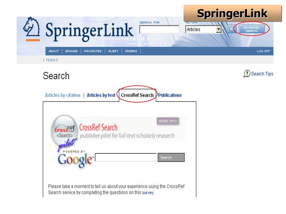 SpringerLinkSpringerLink