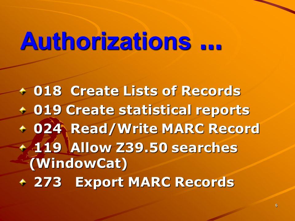 17 Import: Load Bib Rec เป็นการนำข้อมูล Bib เข้าสู่ ฐานข้อมูล Millennium โดย ข้อมูลที่นำเข้าต้องเป็น MARC File หรือ ISO 2709 File