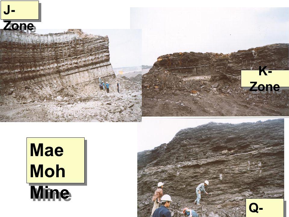 J- Zone Q- Zone K- Zone Mae Moh Mine