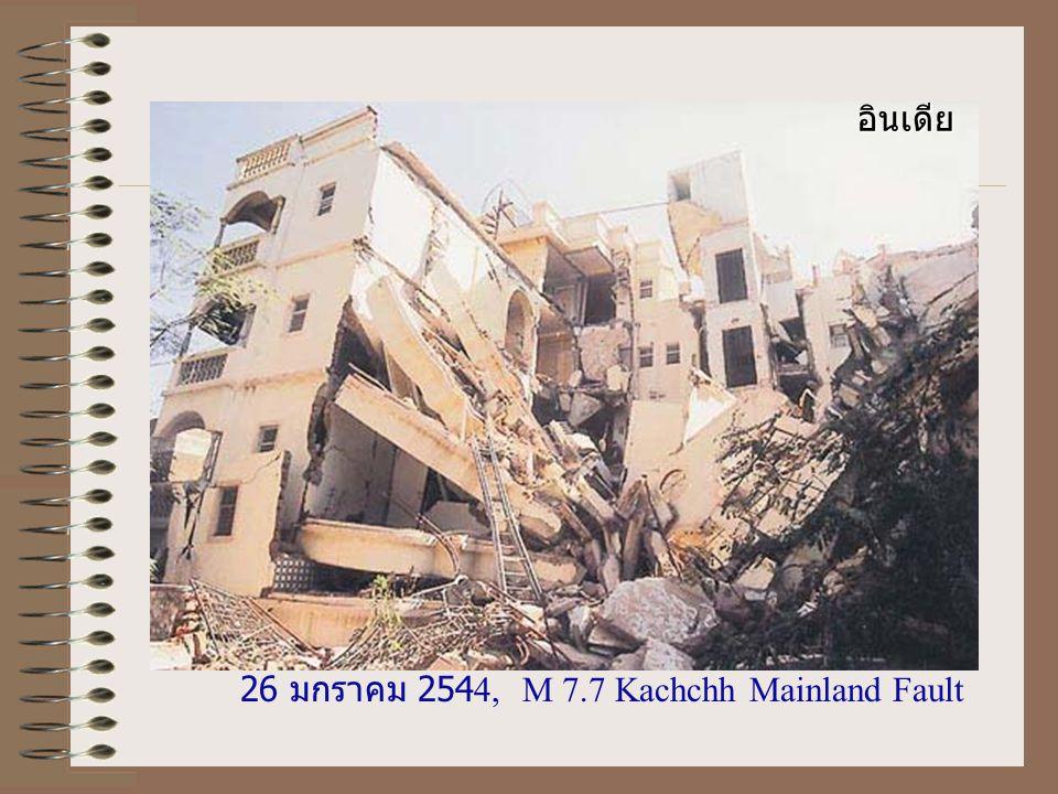 20 กันยายน 2542, M 7.6, Chelongpu Fault ไต้หวัน