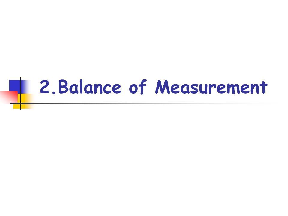 2.Balance of Measurement