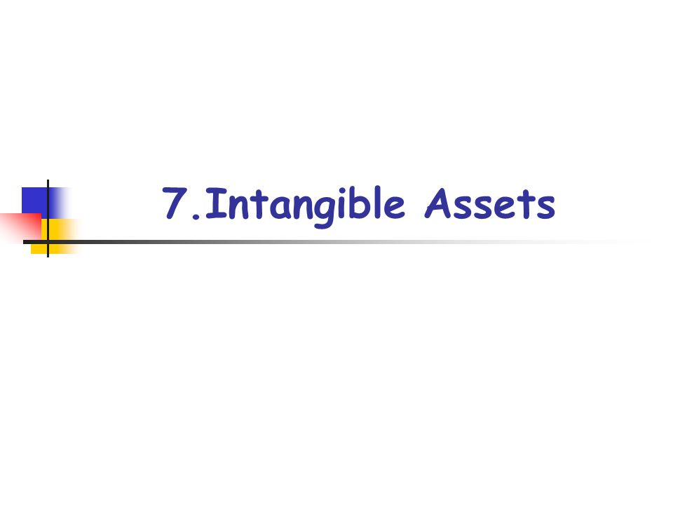 7.Intangible Assets