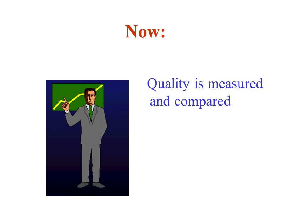 Now: Quality is measured and compared