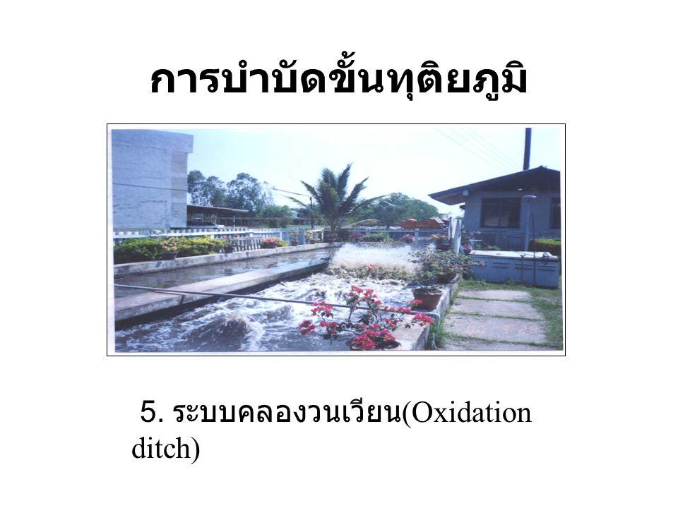 การบำบัดขั้นทุติยภูมิ 5. ระบบคลองวนเวียน (Oxidation ditch)