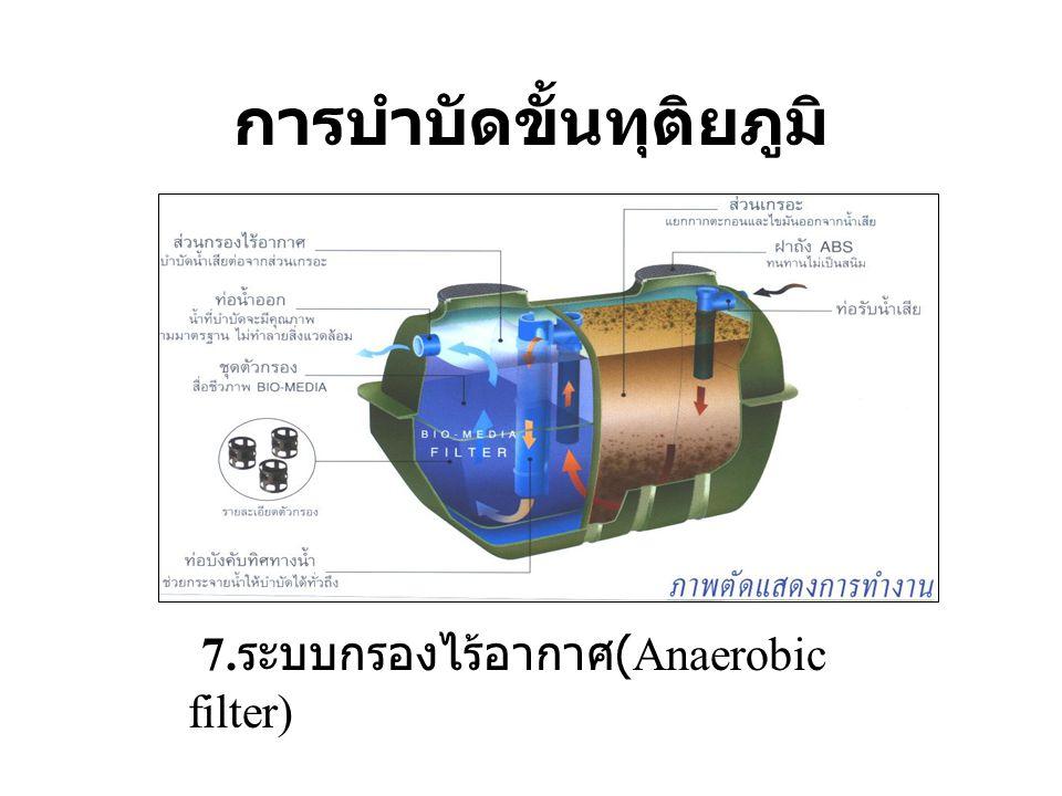 การบำบัดขั้นทุติยภูมิ 7. ระบบกรองไร้อากาศ (Anaerobic filter)