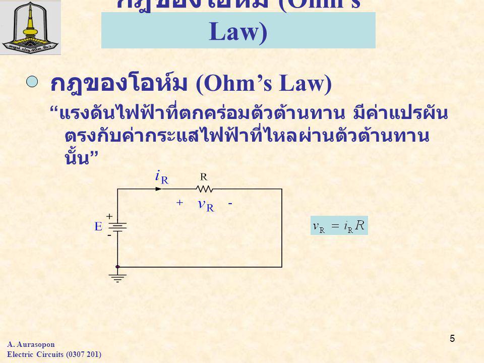 16 วงจรขนาน (Parallel circuit) 1.แรงดันตกคร่อมแต่ละตัวเท่ากับแรงดัน แหล่งจ่าย 2.