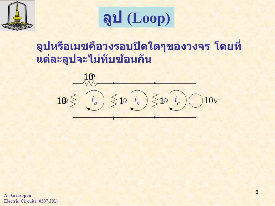 19 A. Aurasopon Electric Circuits (0307 201) Problems