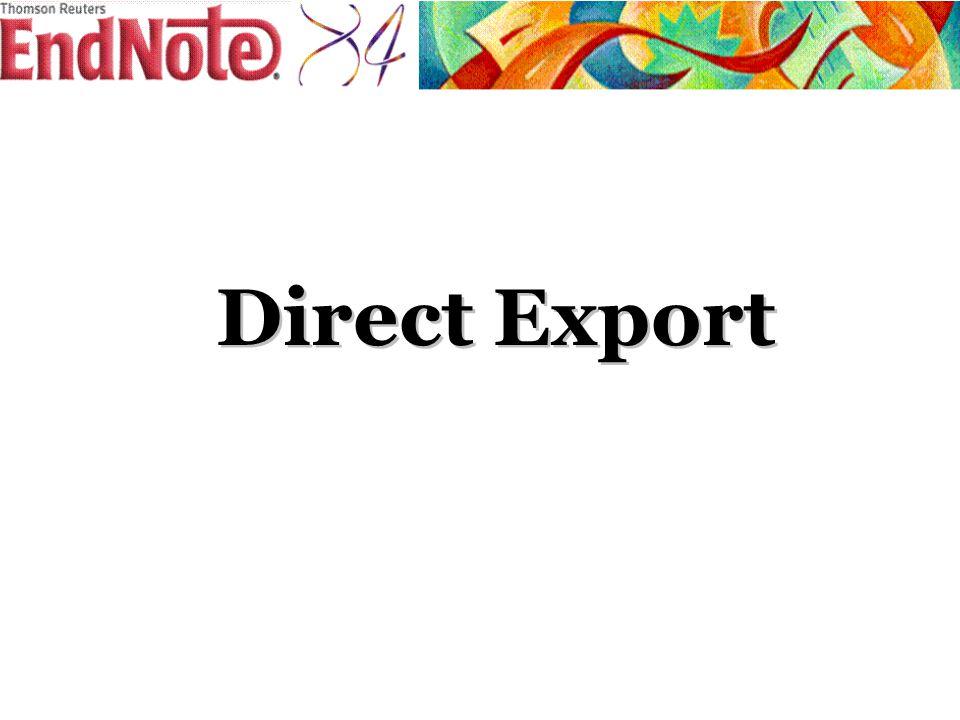Direct Export