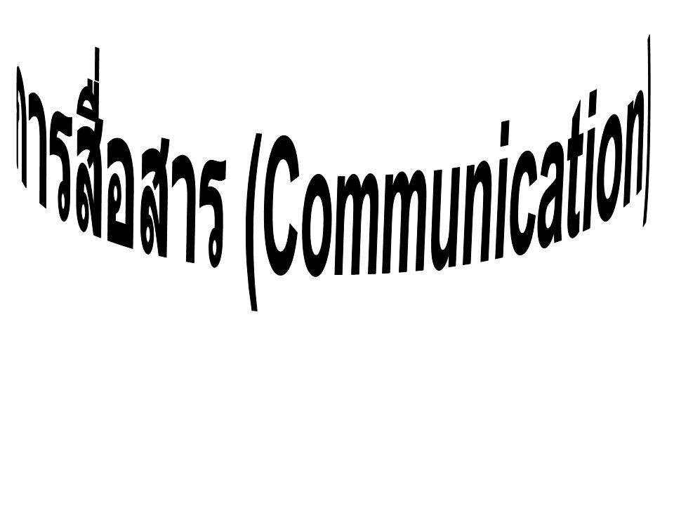สื่อที่ใช้ในการติดต่อสื่อสาร 1. ภาษาพูด