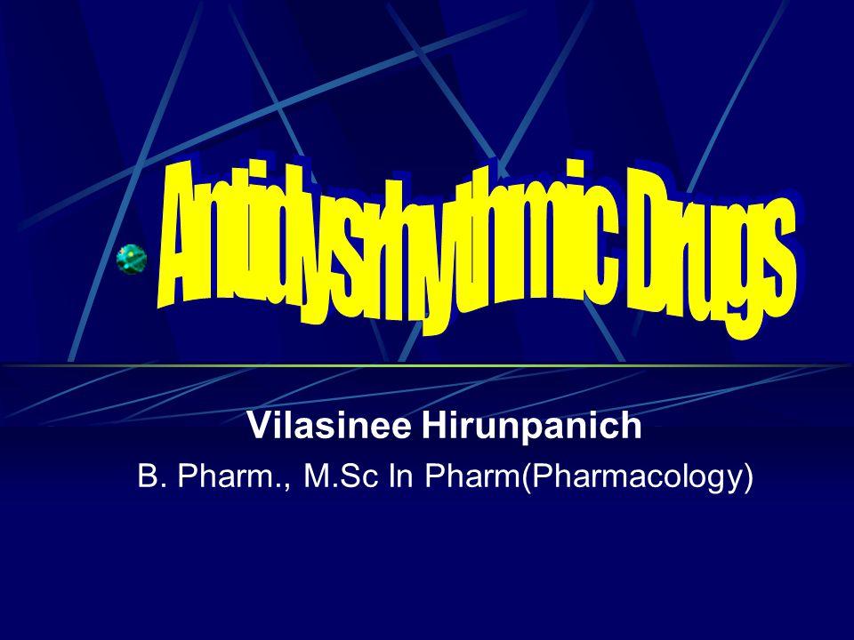 Toxicity Heart: ยามีผลยับยั้ง vagal effect ซึ่งเพิ่ม sympathetic response ในหัวใจ, AV block เปลี่ยนแปลง EKG ทำให้ prolong QT interval others: GI..…..diarrhea, GI upset cinchonism.......tinnitis, headache, nausea, vertigo, disturbed vision (quinidine syncope) rash, edema, fever