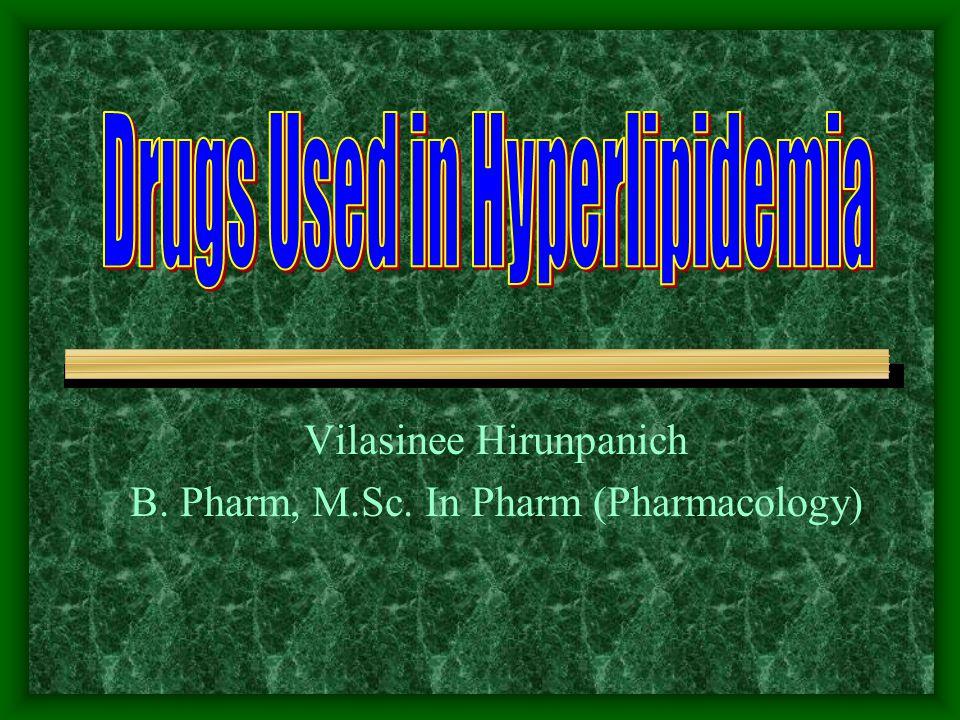 Vilasinee Hirunpanich B. Pharm, M.Sc. In Pharm (Pharmacology)
