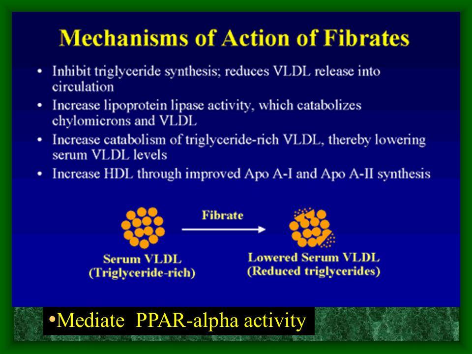 Mediate PPAR-alpha activity