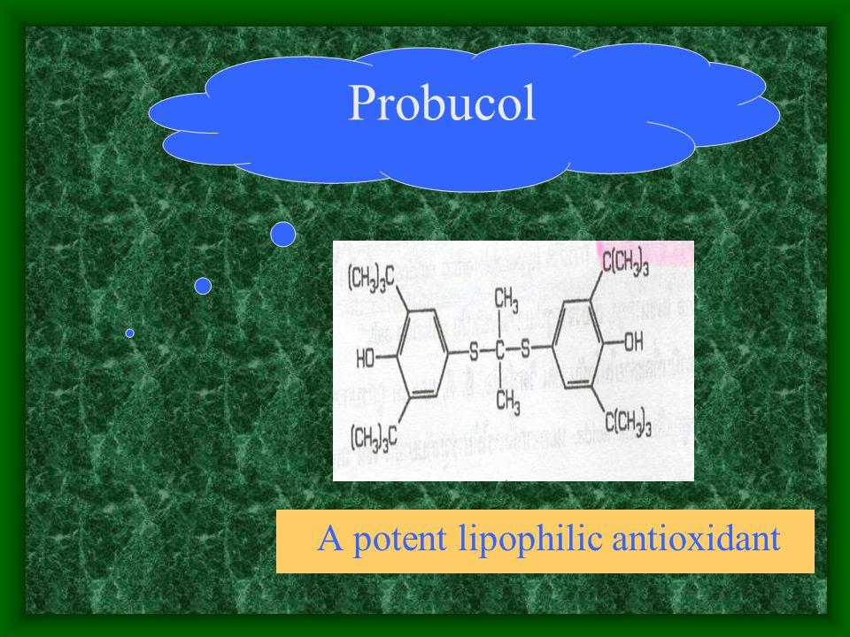 A potent lipophilic antioxidant Probucol
