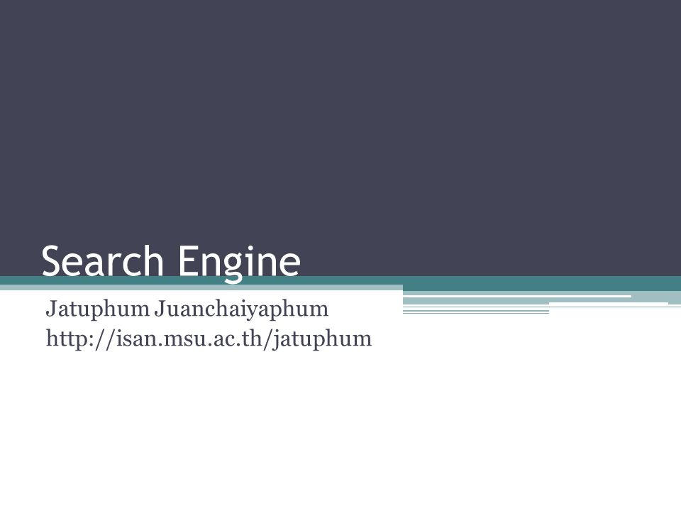 Topic What is Search Engine .