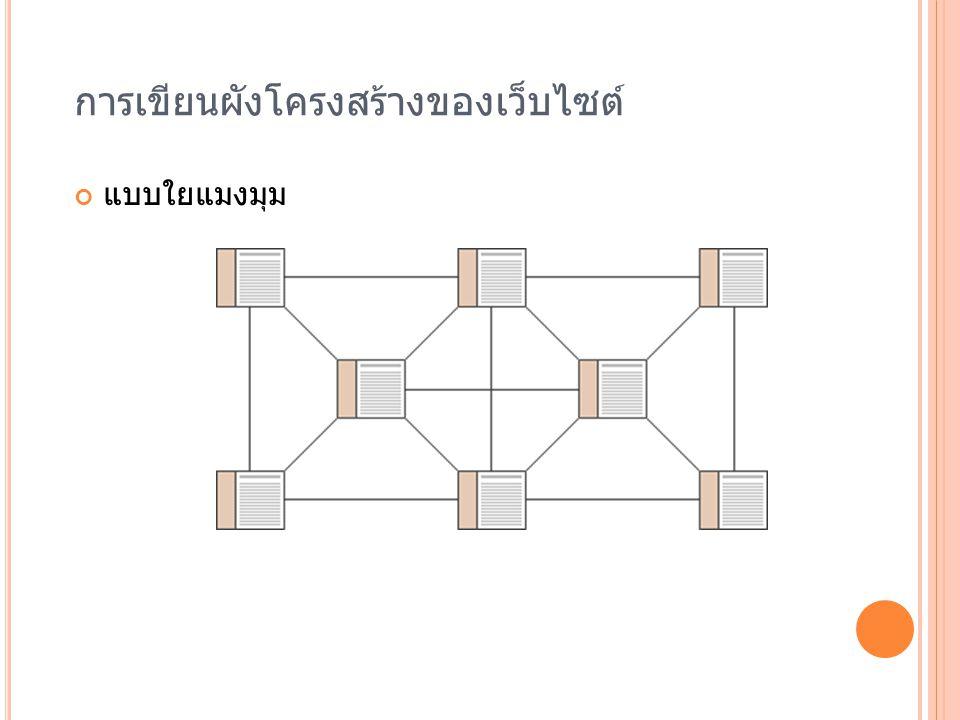 การเขียนผังโครงสร้างของเว็บไซต์ แบบใยแมงมุม