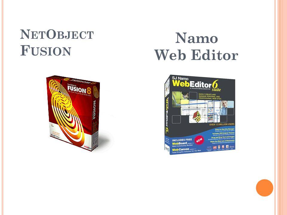 N ET O BJECT F USION Namo Web Editor