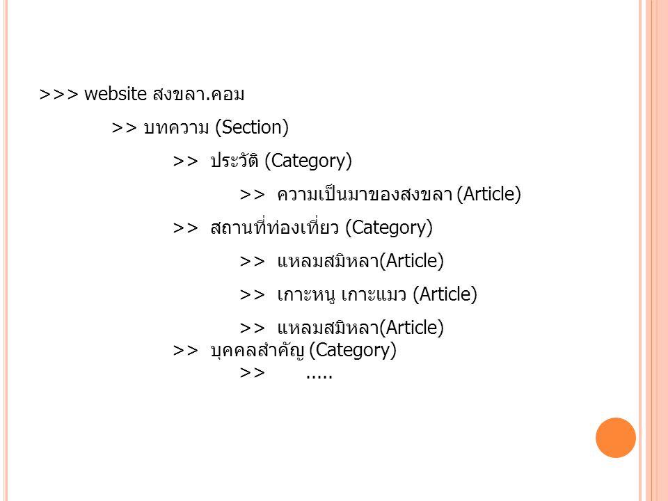 >>> website สงขลา.คอม >> บทความ (Section) >> ประวัติ (Category) >> ความเป็นมาของสงขลา (Article) >> สถานที่ท่องเที่ยว (Category) >> แหลมสมิหลา(Article)