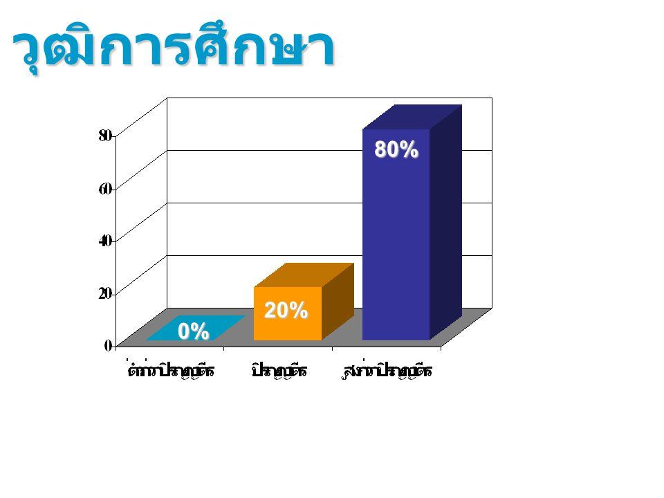 20% 0% วุฒิการศึกษา 80%