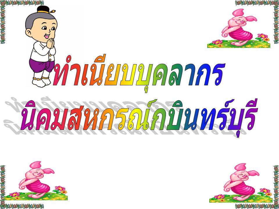 นายเชาวลิต เจริญฤทธิ์ หัวหน้านิคมสหกรณ์กบินทร์บุรี ตำแหน่ง : เจ้าพนักงานส่งเสริมสหกรณ์ อาวุธโส คุณวุฒิ : ประกาศนียบัตรการศึกษาทางการสหกรณ์ สาขา : การสหกรณ์ E-mail : chovalit@cpd.go.th Tel : 081-8908321 นายไกรสร บุญนุช ตำแหน่ง : เจ้าพนักงานส่งเสริมสหกรณ์ ชำนาญงาน คุณวุฒิ : ประกาศนียบัตรวิชาชีพชั้นสูง สาขา : คอมพิวเตอร์ธุรกิจ E-mail : kaisorn@cpd.go.th Tel : 087-0362987