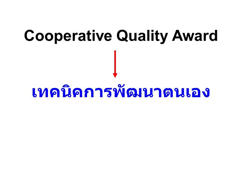 Cooperative Quality Award เทคนิคการพัฒนาตนเอง