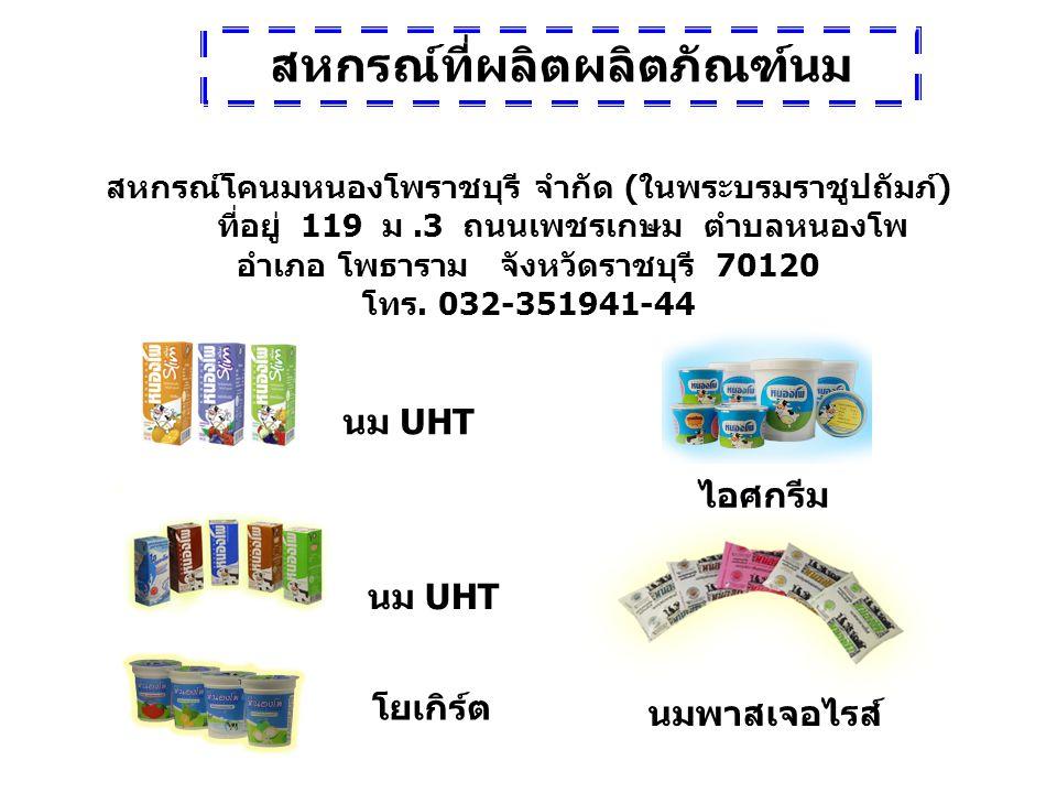 สหกรณ์โคนมหนองโพราชบุรี จำกัด ( ในพระบรมราชูปถัมภ์ ) ที่อยู่ 119 ม.3 ถนนเพชรเกษม ตำบลหนองโพ อำเภอ โพธาราม จังหวัดราชบุรี 70120 โทร. 032-351941-44 นม U