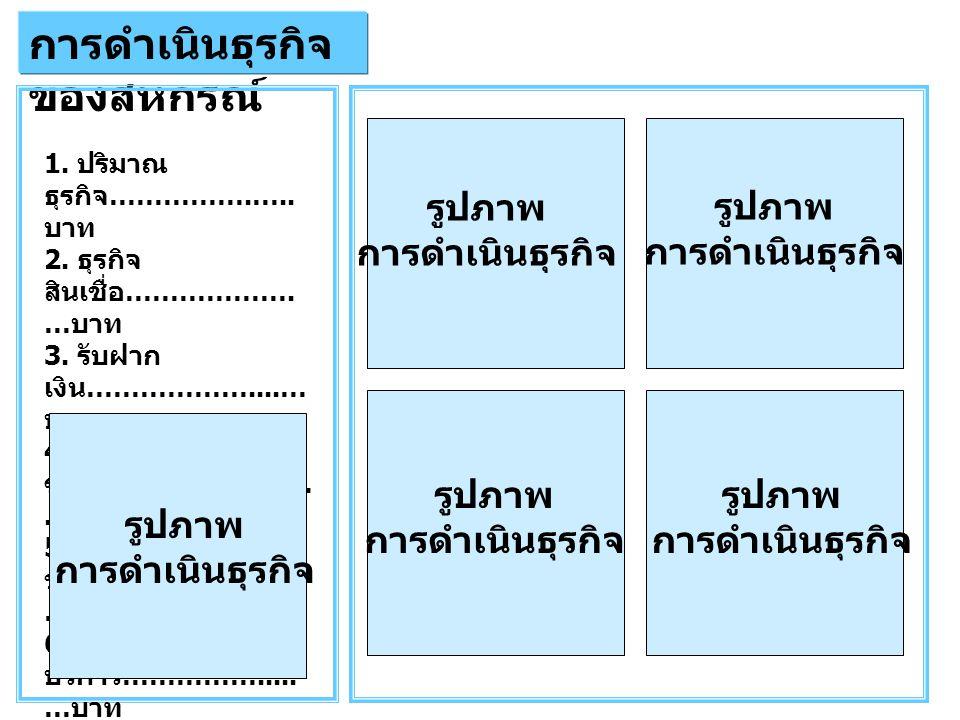 การดำเนินธุรกิจ ของสหกรณ์ รูปภาพ การดำเนินธุรกิจ รูปภาพ การดำเนินธุรกิจ รูปภาพ การดำเนินธุรกิจ รูปภาพ การดำเนินธุรกิจ 1.