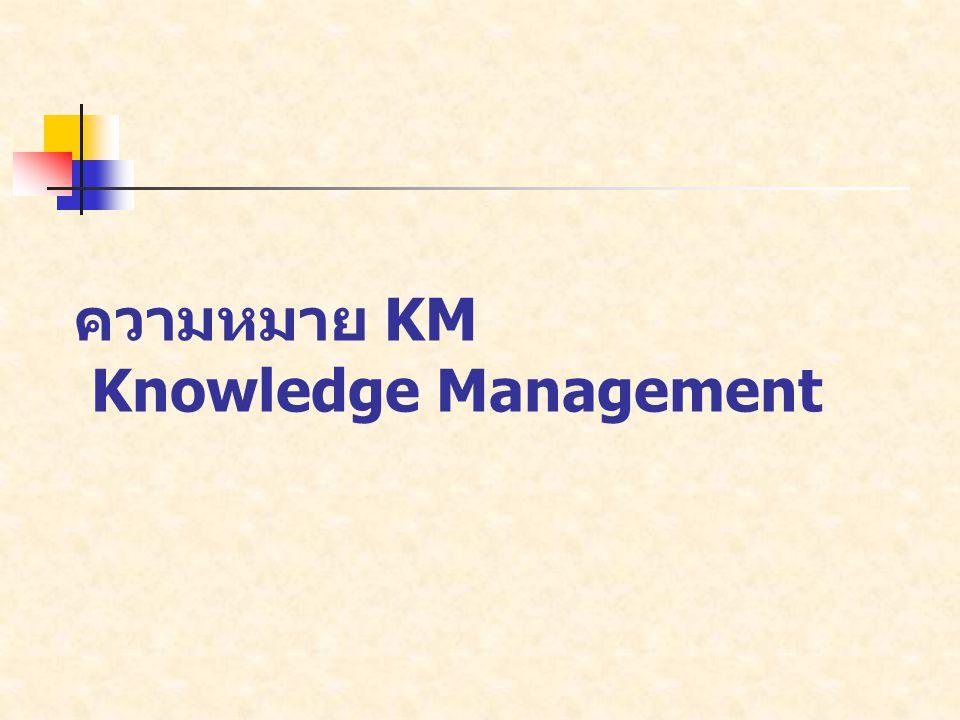 วัตถุประสงค์ของการจัดการความรู้ มีดังนี้ 1.