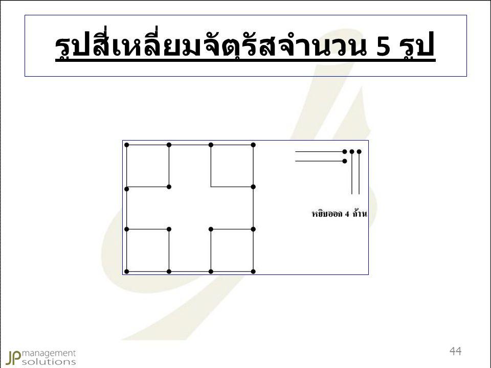 รูปสี่เหลี่ยมจัตุรัสจำนวน 5 รูป 44