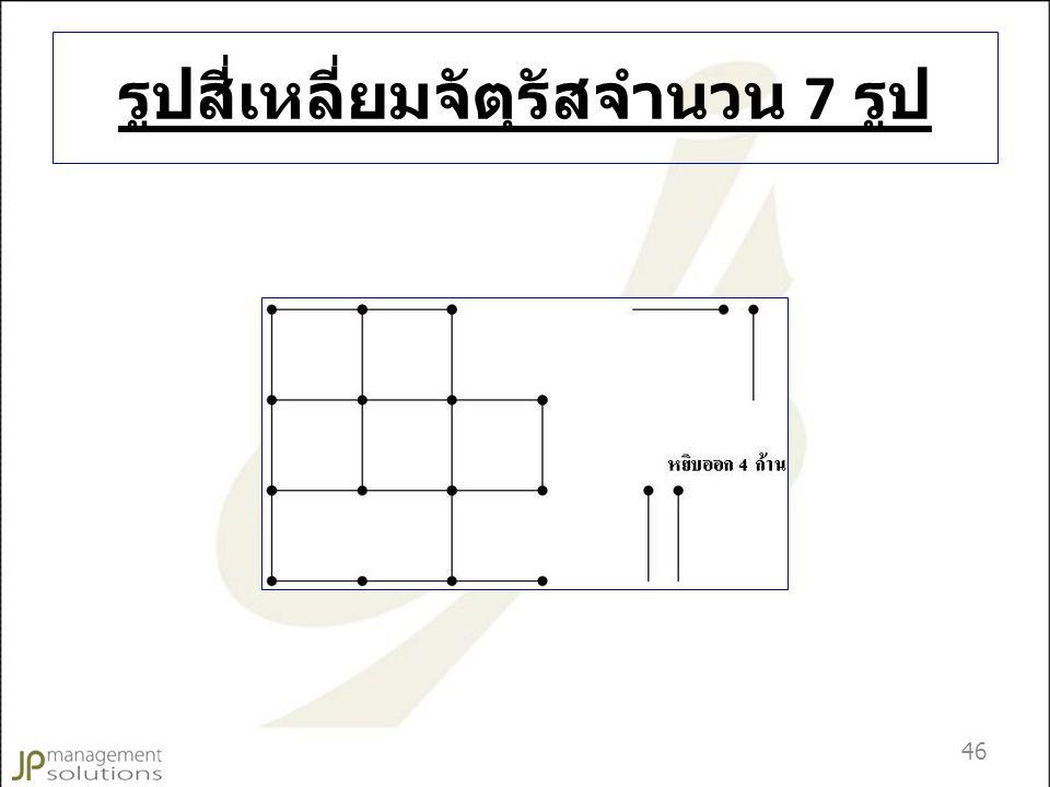รูปสี่เหลี่ยมจัตุรัสจำนวน 7 รูป 46