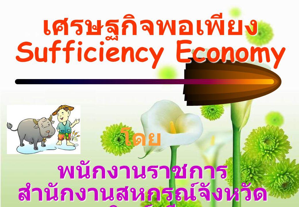 เศรษฐกิจพอเพียง Sufficiency Economy โดย พนักงานราชการ สำนักงานสหกรณ์จังหวัด สิงห์บุรี
