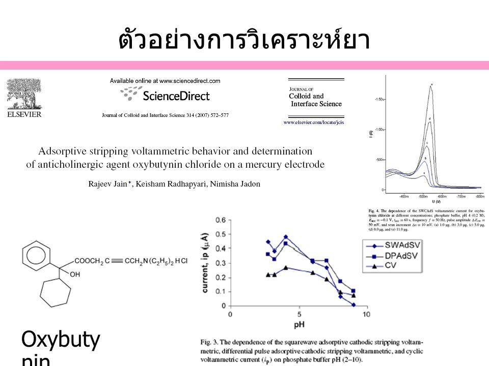 ตัวอย่างการวิเคราะห์ยา Oxybuty nin