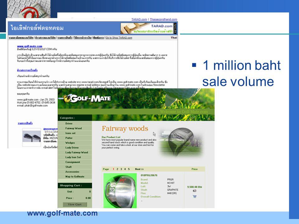 Company LOGO Golf  1 million baht sale volume www.golf-mate.com