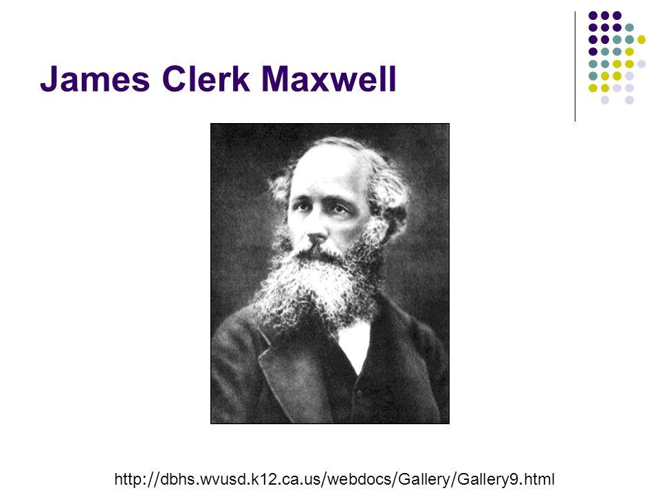 James Clerk Maxwell http://dbhs.wvusd.k12.ca.us/webdocs/Gallery/Gallery9.html
