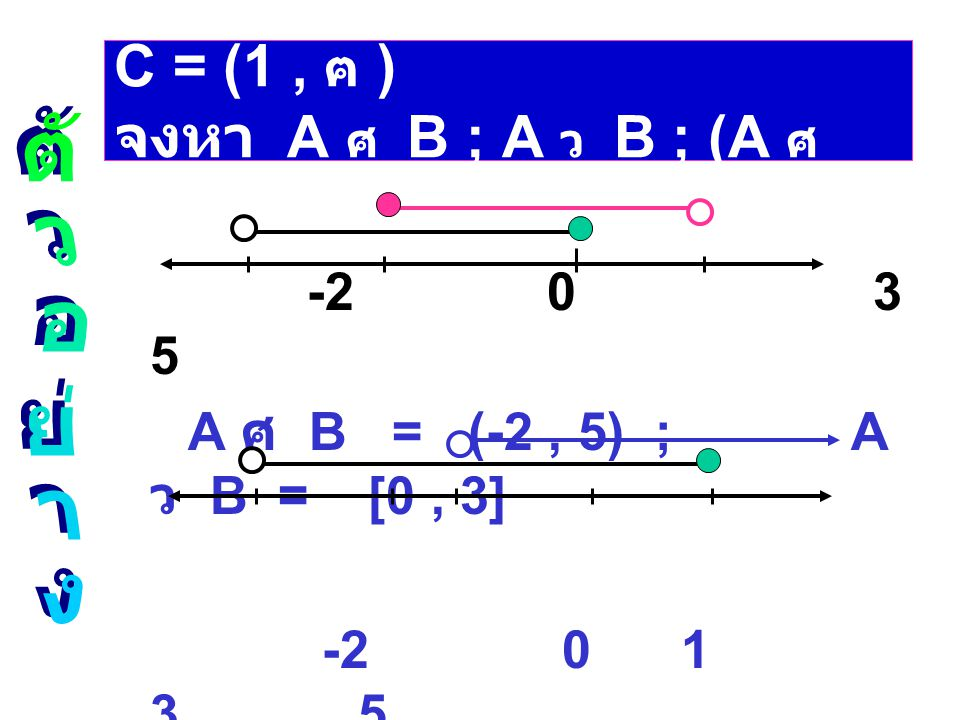 8. ช่วง (- ฅ , b  ) = {x / x  b}