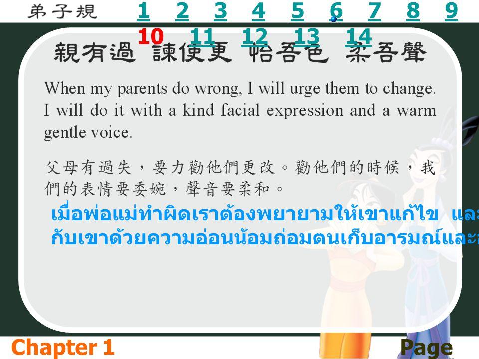 11 2 3 4 5 6 7 8 9 10 11 12 13 142345678911121314 เมื่อพ่อแม่ทำผิดเราต้องพยายามให้เขาแก้ไข และเราต้องคุย กับเขาด้วยความอ่อนน้อมถ่อมตนเก็บอารมณ์และอย่า