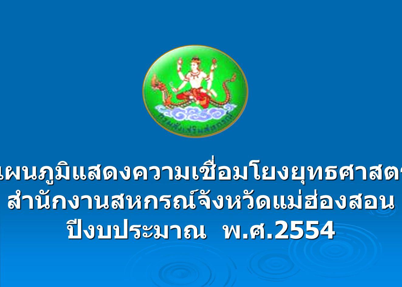 แผนภูมิแสดงความเชื่อมโยงยุทธศาสตร์สำนักงานสหกรณ์จังหวัดแม่ฮ่องสอน ปีงบประมาณ พ. ศ.2554