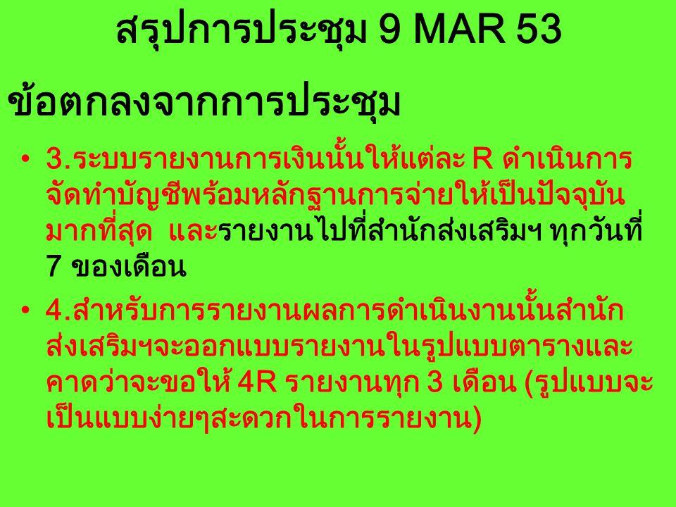 สรุปการประชุม 9 MAR 53 5.การแต่งตั้งคณะกรรมการโครงการ ประกอบด้วย ที่ปรึกษา อธิการบดี รองอธิการ ผอ.ศอ.บต.