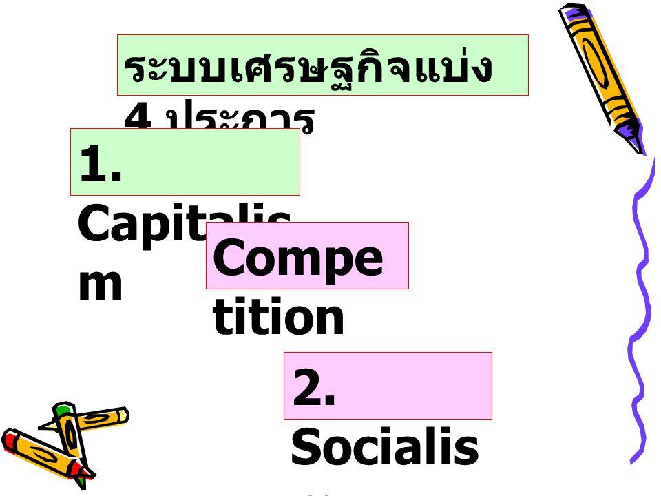 3. Commun ism 4. Mixed Economy