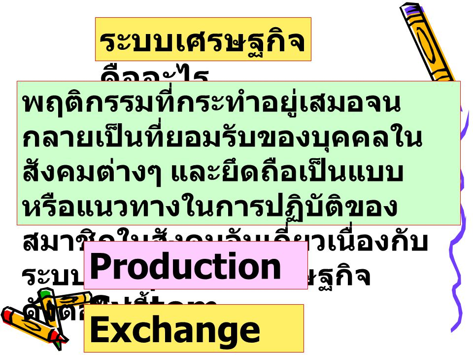 Division of Labour Asset Holding Production Chain