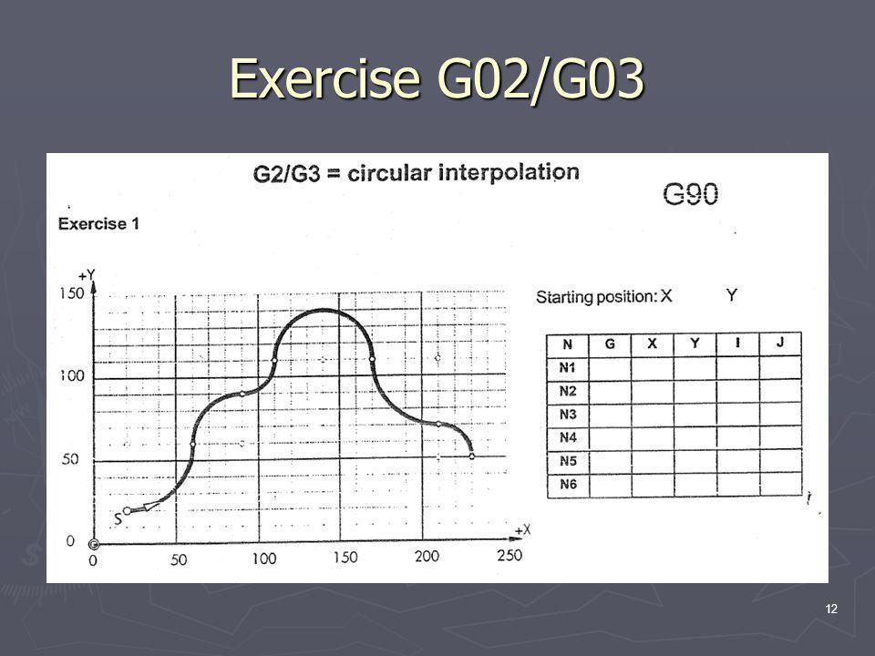 Exercise G02/G03 12