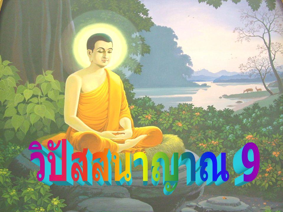 ญาณในวิปัสสนา ญาณ ที่นับเข้าในวิปัสสนาหรือที่ จัดเป็นวิปัสสนา คือ เป็นความรู้ที่ทำให้เกิด ความเห็นแจ้ง เข้าใจ สภาวะของสิ่งทั้งหลาย ตามเป็นจริง มี องค์ประกอบ 9 ประการ ได้แก่