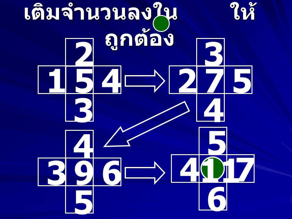 เติมจำนวนลงใน ให้ ถูกต้อง 6 513 7 8 8 717 9 10 7 615 8 9 9 8 10 1911