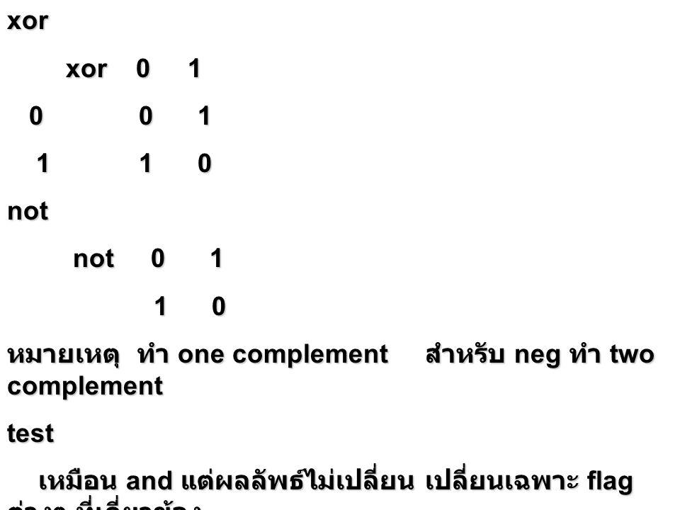 Shift operator {register,memory},{CL/1} operator {register,memory},{CL/1} Arithmetic and Logical shift SAL/SHLCF SARCF SHR CF SHR CF 0 0