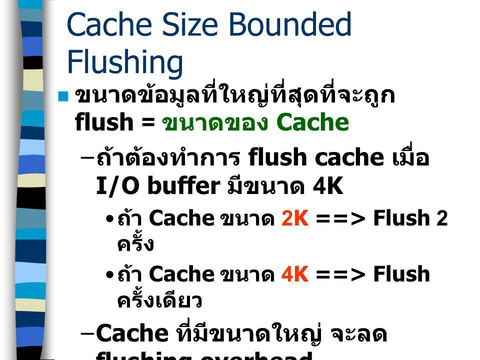 Address Space Layout ข้อจำกัดของ Physically Indexed Cache – ใช้ได้กับระบบที่มี Cache ขนาดใหญ่ มากกว่าขนาดของ Page หลาย ๆ เท่า