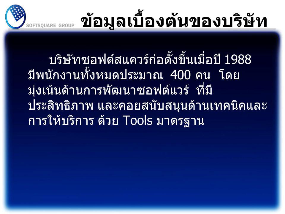 ที่ตั้งบริษัท สถานที่ : บริษัท ซอฟต์สแควร์ 1999 จำกัด ที่ตั้ง :51/597 หมู่บ้านเมืองเอก หมู่ 7 ต.